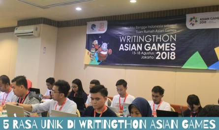 5 Rasa Unik Writingthon