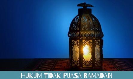hukum tidak puasa ramadan
